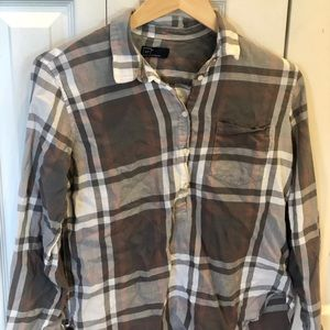 GAP plaid long sleeve shirt